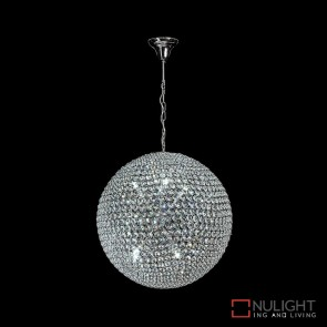 Venus 40 Crystal Led Pendant Diameter 400Mm White Led DOM
