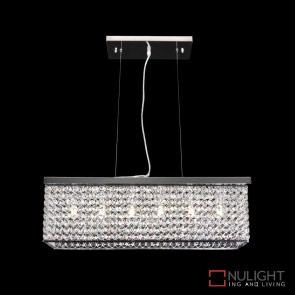 Rainbow 60 Crystal Led Pendant Length 600Mm White Led DOM