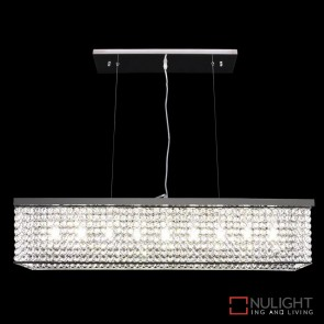 Rainbow 90 Crystal Led Pendant Length 900Mm White Led DOM