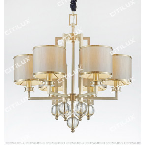 Postmodern Crystal Ball Centre Tower Chandelier Citilux