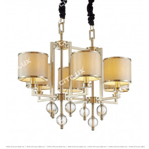 Postmodern Crystal Ball Two Tower Chandelier Citilux