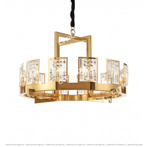 American Crystal Gold Chandelier Citilux
