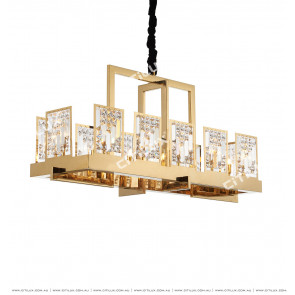 American Golden Crystal Chandelier Citilux