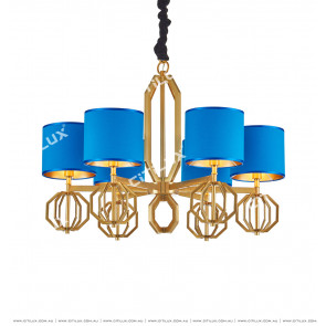 Postmodern Stainless Steel Blue Chandelier Citilux