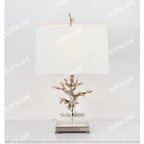 Modern Tree Sculpt Crystal Table Lamp Citilux