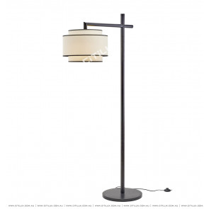 Asian Black New Chinese Floor Lamp Citilux