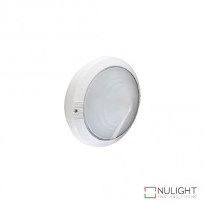 Astra Round 240V Wall Light White Finish E27 DOM