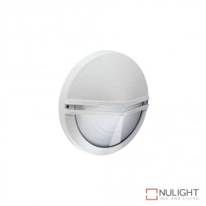Astra Round Eyelid 240V Wall Light White Finish E27 DOM