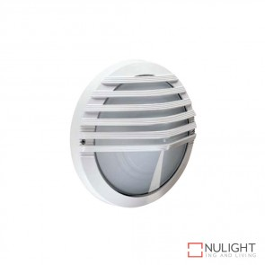 Astra Round Eyelid Grille 240V Wall Light White Finish E27 DOM