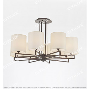 Asian Black Minimalist Modern Chinese Chandelier Citilux