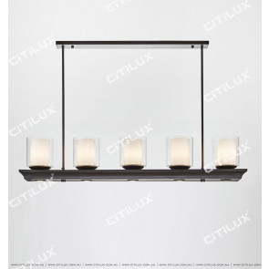 Double Glass Dining Chandelier Citilux