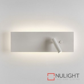 Edge Reader LED Single Switch Matt White 7959 AST