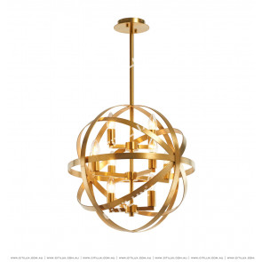 Stainless Steel Spherical Modern Chandelier Citilux