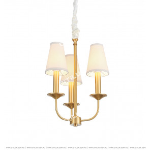 American Copper Fabric 3 Lights Chandelier Citilux
