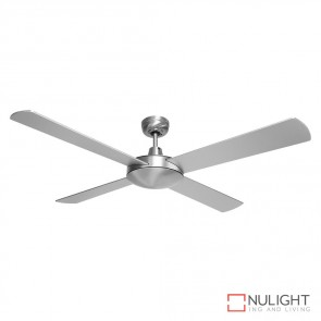 Brisk 52 Inches Plywood Blades Ceiling Fan Silver Finish DOM
