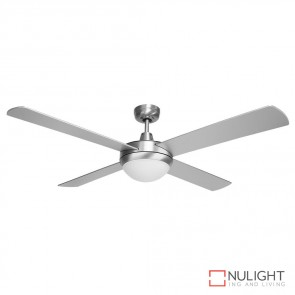 Brisk 52 Inches Plywood Blades Ceiling Fan And Light Silver Finish E27 DOM