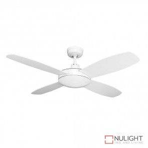 Brisk 42 Inches Plywood Blades Ceiling Fan Satin White Finish DOM