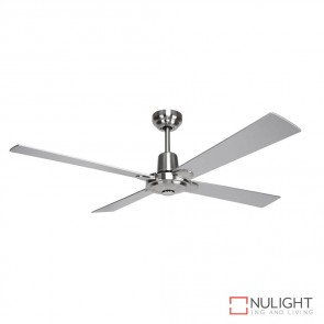 Windy 48 Inches Plywood Blade Ceiling Fan Brushed Nickel And Silver Finish DOM