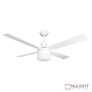 Windy 48 Inches Plywood Blade Ceiling Fan And Light White Finish E27 DOM
