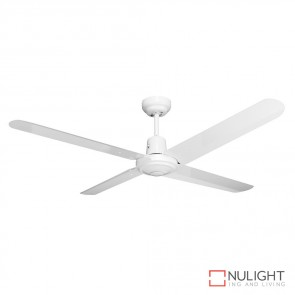 Viento 48 Inches Steel Blade Ceiling Fan White Finish DOM