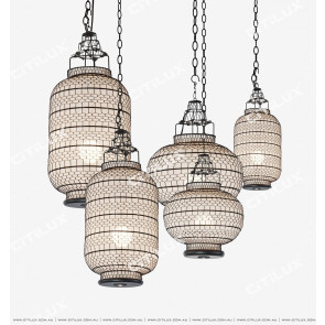 Sub-Black Mesh Single-Head Chandelier Citilux