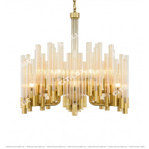 Staggered Glass Tube Modern Chandelier Citilux