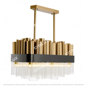Stainless Steel Metal Dining Chandelier Citilux