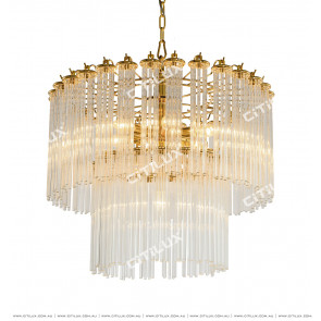 Clear Glass Drop 7 Lights Chandelier Citilux