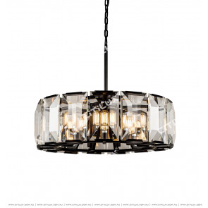 Black Crystal 9 Lights Chandelier Citilux
