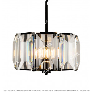 Black Crystal 6 Lights Chandelier Citilux