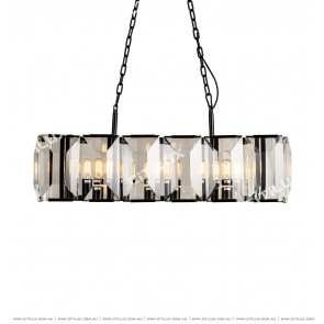 Asian Black Crystal Chandelier Citilux