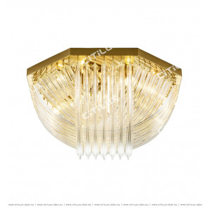 Modern Transparent Curved Glass Ceiling Lamp Citilux