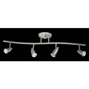 Four Light Curved Bar Ceiling Spotlight Domus Lighting