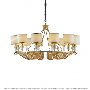 Stainless Steel Titanium Embossed Chandelier Citilux