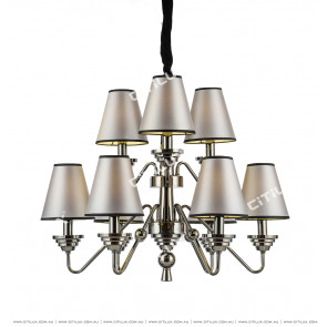 Neoclassical Pearl Black Chandelier Citilux