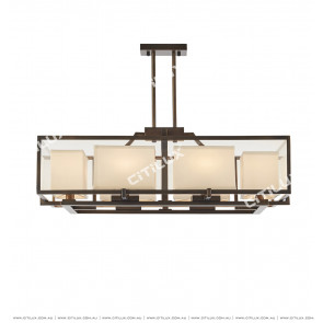 Chinese Glass Semi-Suction Chandelier Citilux