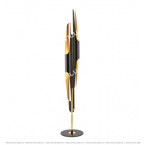 Modern Black Gold Floor Lamp Citilux
