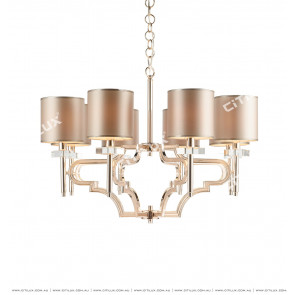 Neoclassical Champagne Chandelier Citilux