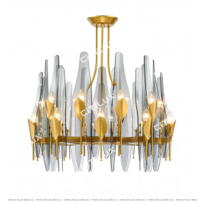 Dovetail Glass 20 Lights Chandelier Citilux