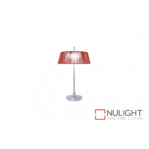 Paolo 2 Light Table Lamp Red VAM