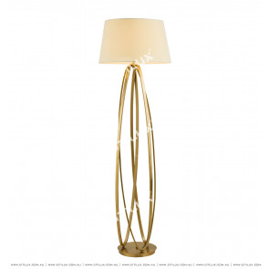 Geometric Line Antique Copper Floor Lamp Citilux
