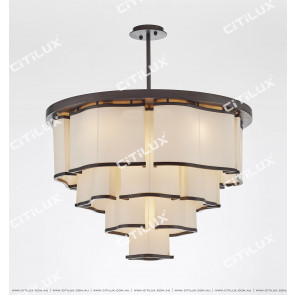 Chinese Style Simple Half Suction Chandelier Citilux