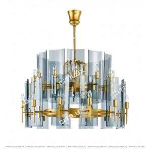 Tile Glass Chandelier Citilux