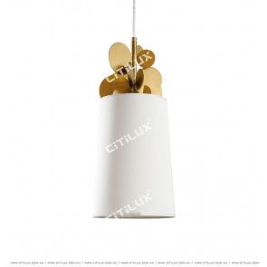 Modern Brushed Titanium Irregular Small Round Chandelier Citilux