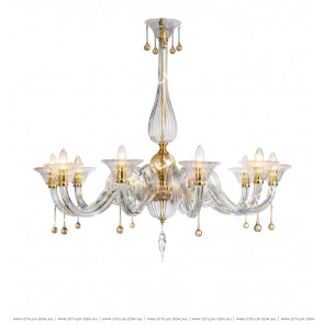 European Minimalist Crystal 10 Lights Chandelier Citilux