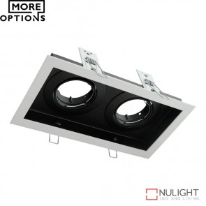 Dsl 1012B Rectangular Slotter Twin Light Downlight Frame DOM