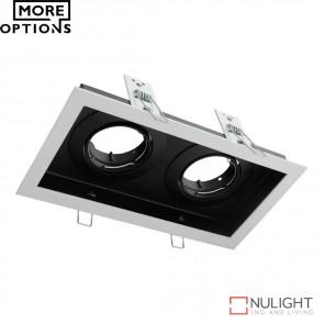 Dsl 1012B Rectangular Slotter Twin Light Downlight Frame DOM