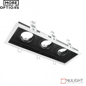 Dsl 1013B Rectangular Slotter Triple Light Downlight Frame DOM