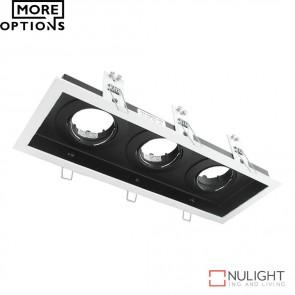 Dsl 1013B Rectangular Slotter Triple Light Downlight Frame DOM
