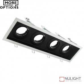 Dsl 1014B Rectangular Slotter Four Light Downlight Frame DOM